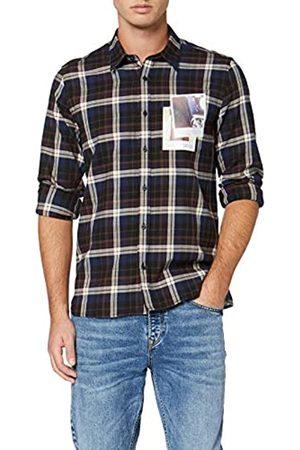 Antony Morato Camicia Fantasia con Spacchetti Laterali + Stampa Punto Cuore Camisa Casual