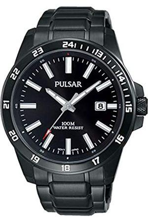 Seiko Pulsar Reloj Unisex de Analogico con Correa en Chapado en Acero Inoxidable PS9461X1