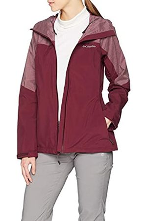 Columbia Mujer Chaqueta impermeable, Evolution Valley II Jacket, Poliéster, (Deep Madeira Heather), Talla: L