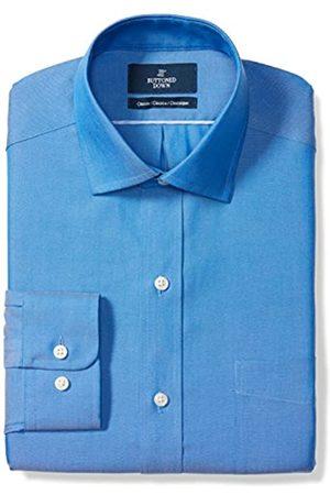 Buttoned Down Marca Amazon – – Camisa de vestir de tejido pinpoint de corte clásico con cuello abierto de algodón Supima para hombre que no necesita planchado