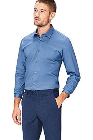FIND Camisa de Manga Larga con Cuello Clásico para Hombre
