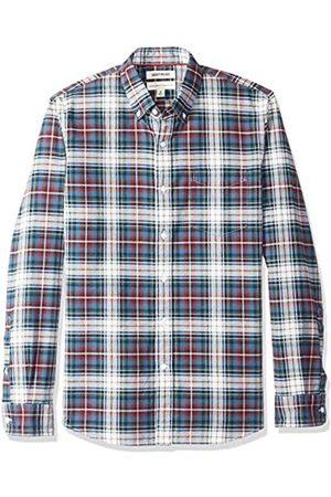 Goodthreads Marca Amazon – – Camisa Oxford a cuadros de manga larga y corte estándar para hombre