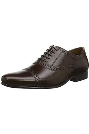 REK69|#Red Tape Fenny, Zapatos de Cordones Oxford para Hombre, (Brown 0)