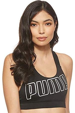 Puma Feel It W Mid Impact Sujetador Deportivo, Mujer, Black White