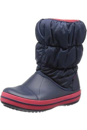 Crocs Winter Puff Boot Kids, Botas de Nieve Unisex Niños, (Navy/Red)