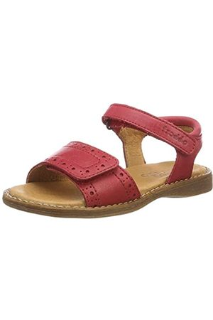 Froddo G3150127-4 Girls Sandal, Sandalias con Punta Abierta para Niñas, (Red I01)