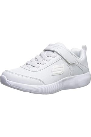 Skechers Dyna-Lite School Sprints, Zapatillas para Niñas, (White Duraleather/Trim Wht)