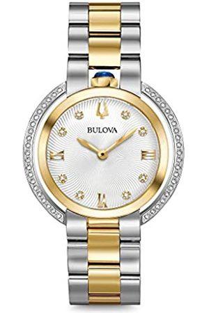 BULOVA Reloj Analógico para Mujer de Cuarzo con Correa en Acero Inoxidable 98R246