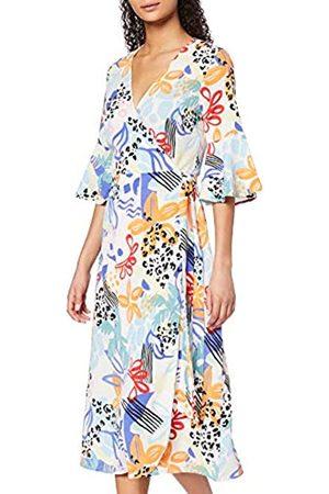 FIND Marca Amazon - Mujer Vestido Midi Cruzado de Flores