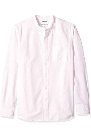 Goodthreads – Camisa Oxford de manga larga con cuello en banda de corte estándar para hombre
