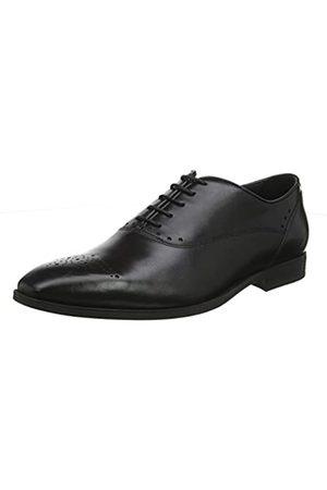 Geox New Life, Zapatos de Cordones Oxford para Hombre, (Black C9999)