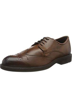 Ecco VITRUS III, Zapatos de Cordones Brogue para Hombre, (Amber 1112)