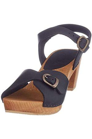 Sanita Tiana Square Flex Sandal, Sandalia con Pulsera para Mujer, (Black 2)