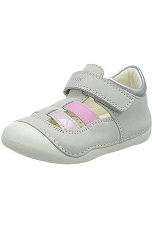 Geox B Tutim A, Sandalias de Punta Descubierta para Bebés, (White/Pink C0406)