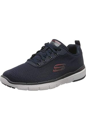Skechers Flex Advantage 3.0, Zapatillas para Hombre, (Navy Mesh/Red Trim Nvrd)