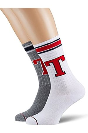 Tommy Hilfiger Men TH Patch Sock 2P Calcetines, Hombre