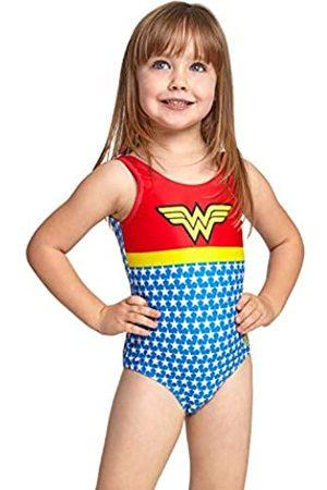 Zoggs Wonder Woman Scoopback Bañador de 1 Pieza, niña