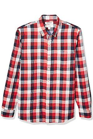 Goodthreads Marca Amazon – – Camisa reversible de manga larga de corte entallado para hombre