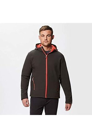 Regatta Arley II Hooded Softshell Chaqueta, Black (Classic Red)