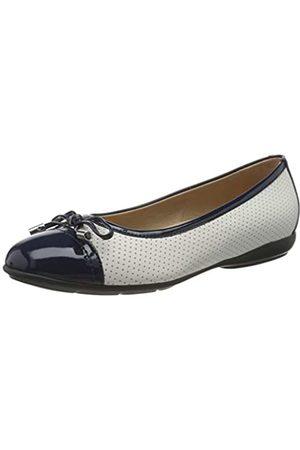 Geox D Annytah C, Bailarinas para Mujer, (White/Blue C0006)