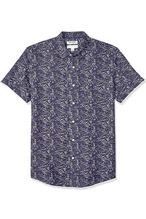 Goodthreads Marca Amazon – – Camisa de manga corta para hombre, de lino y algodón, corte estándar