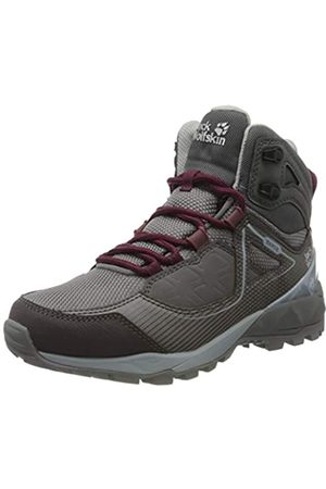 Jack Wolfskin Cascade Hike XT Texapore Mid W, Zapatos de High Rise Senderismo para Mujer, (Pebble Grey/Pink 6515)