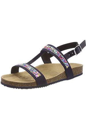 Geox J New Sandal Aloha B, Sandalias con Tira Vertical para Niñas, (Navy)