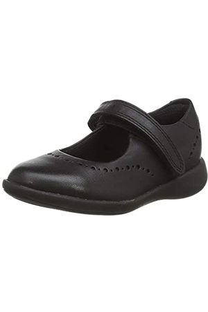 Clarks Etch Craft T, Sandalias Punta Cerrada para Niñas, (Black Leather Black Leather)
