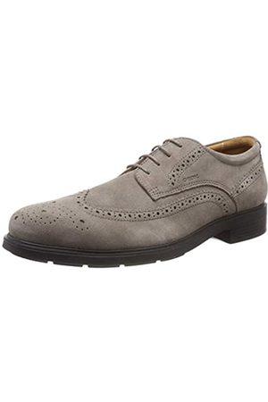 Geox U Dublin B, Zapatos de Cordones Brogue para Hombre, (Smoke Grey)