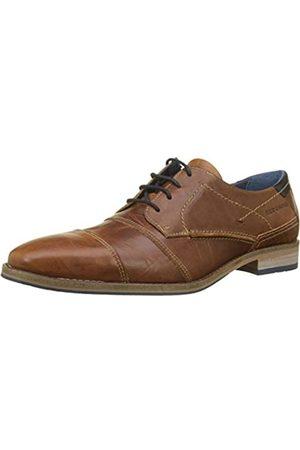 Redskins DELSOL, Zapatos de Cordones Derby para Hombre, (Cognac+Marine 2P)