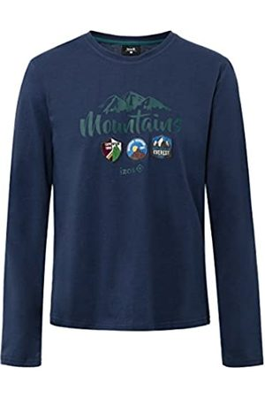 Izas Hombre Camisetas y Tops - Devi Camiseta, Hombre, Noche / Agua Marina