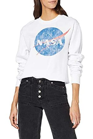 Brands In Limited NASA Classic Insignia Logo Distressed Sudadera