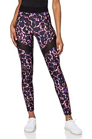 AURIQUE Amazon Brand - Legging deportivos con tejido brillante y paneles laterales para mujer, 42