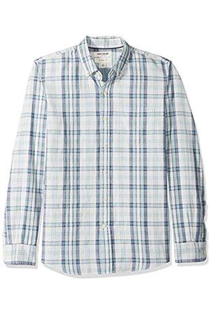 Goodthreads Hombre Casual - Marca Amazon – – Camisa reversible de manga larga de corte entallado para hombre