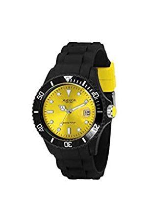 Madison Reloj Análogo clásico para Unisex de Cuarzo con Correa en Caucho U4486-02
