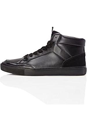 FIND Zapatillas de Cuero Altas para Hombre, (Black)