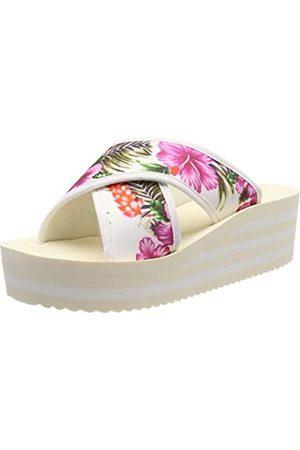 flip*flop Plateaucross Aloha, Sandalias con Plataforma para Mujer, (Marshmallow 1320)