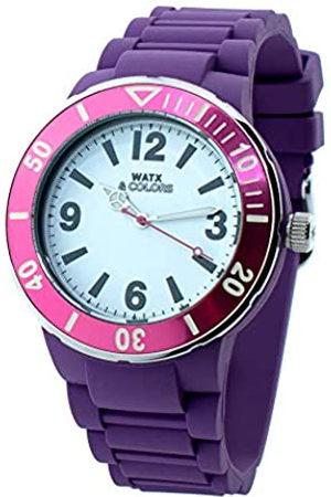 Watx Relojes - Reloj Analógico para Adultos Unisex de Cuarzo con Correa en Caucho RWA1623-C1520