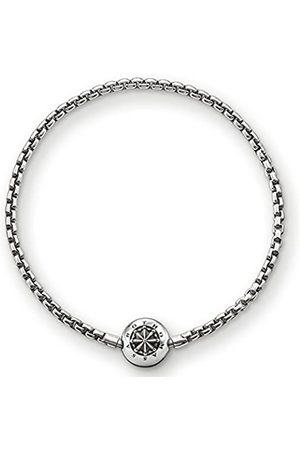 Thomas Sabo Karma Beads, Unisex, pulsera de ley 925, ennegrecida