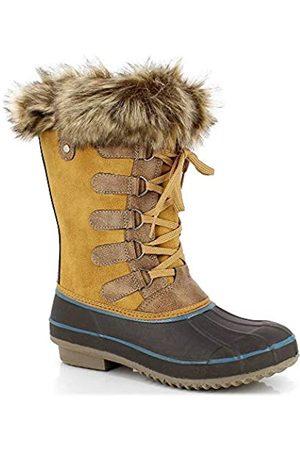 Kimberfeel Candice - Botas de Nieve para Mujer, Color Camel