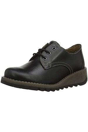 Fly London Simb K, Zapatos de Cordones Brogue para Niñas, (Black 002)