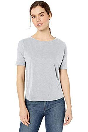 Daily Ritual Marca Amazon - - Camiseta de manga corta y hombros caídos de algodón ligero ablandado para mujer