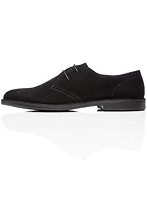 FIND Suede Zapatos de Cordones Derby, Black