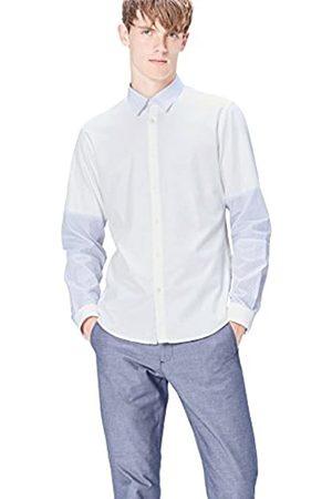 FIND Camisa de Manga Larga Slim Fit con Paneles para Hombre