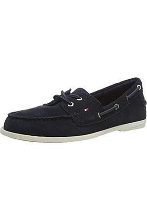 Tommy Hilfiger Classic Suede Boat Shoe, Zapatos de Tacón para Mujer