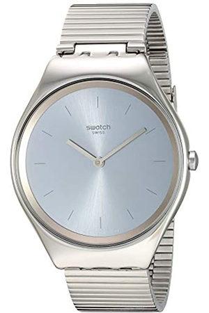 Swatch Relojes - Reloj Analógico para Unisex Adultos de Cuarzo con Correa en Acero Inoxidable SYXS103GG
