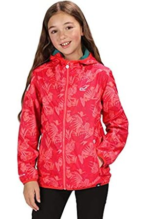 Regatta Printed Lever Waterproof and Breathable Lightweight Hooded Pack Away Chaqueta, Infantil