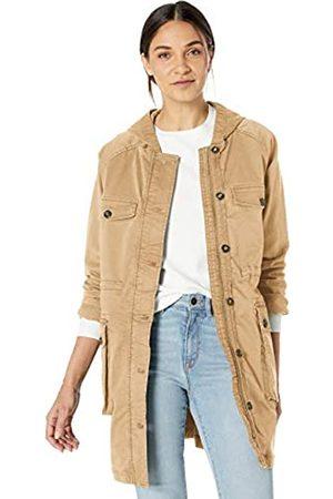 Goodthreads Hooded Utility Jacket Outerwear-Jackets, Bronceado