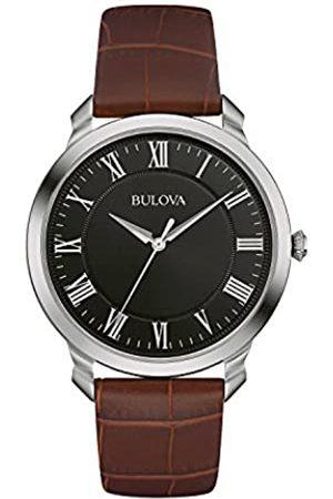 BULOVA Classic 96A184 - Reloj de Pulsera de diseño Elegante para Hombre - Correa de Cuero - Negro