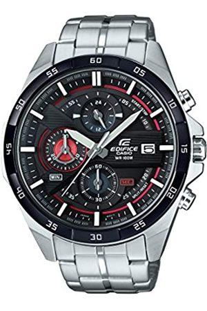 Casio EDIFICE Reloj en caja sólida, 10 BAR, Rojo/ , para Hombre, con Correa de Acero inoxidable